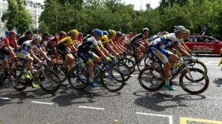Peleton Passes By